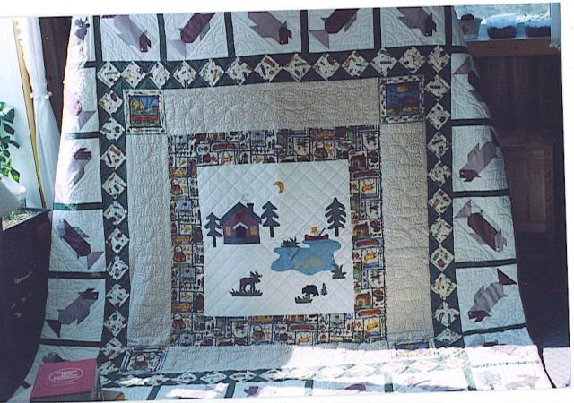 Home Made Hand Stitched Quilt