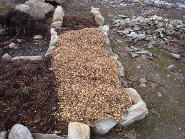 Mulched Bed Ready for Winter