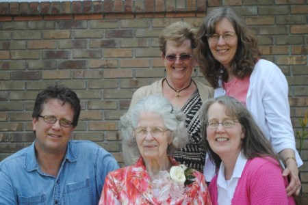 A very HAPPY 91st Birthday to my Mom. This picture was taken on her big 90th birthday celebration. Isn't she beautiful? ...inside and out!!