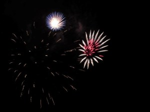 Our town's fireworks were last weekend