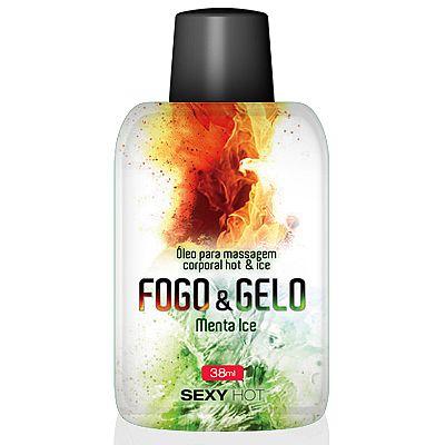 Óleo para massagem beijável FOGO E GELO - Menta Ice