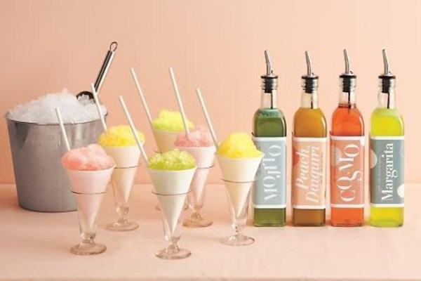 snow cone station for weddings
