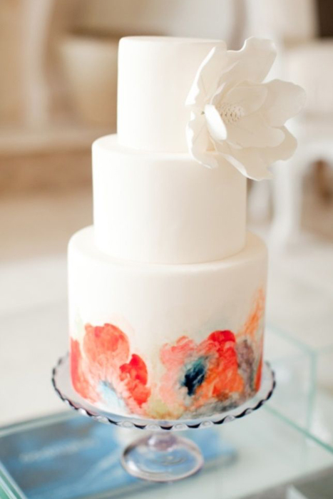 Wedding Trend Hand Painted Wedding Cakes