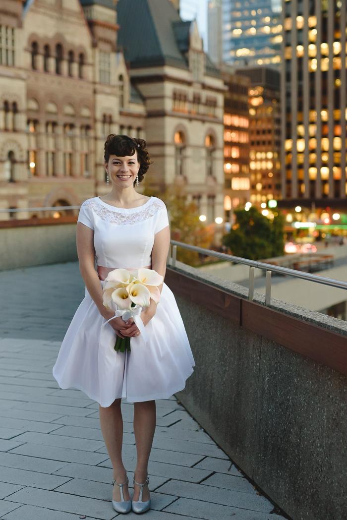 Mallory And Chriss Toronto City Hall Wedding Intimate