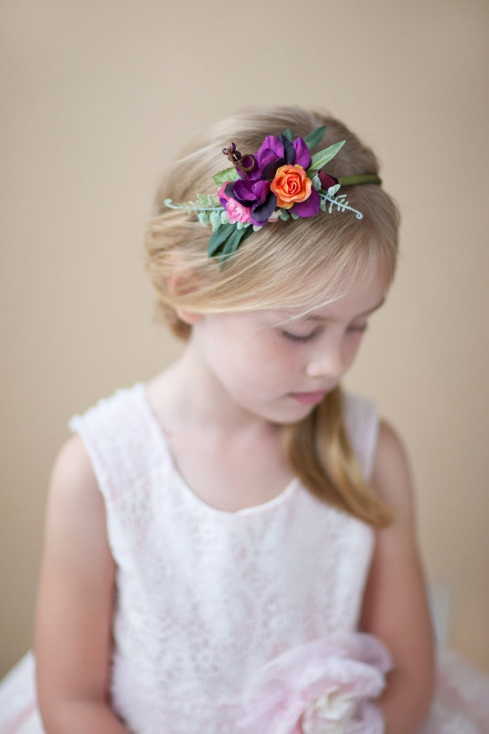 Flower Girl Hair Accessories Diy DIY Projects