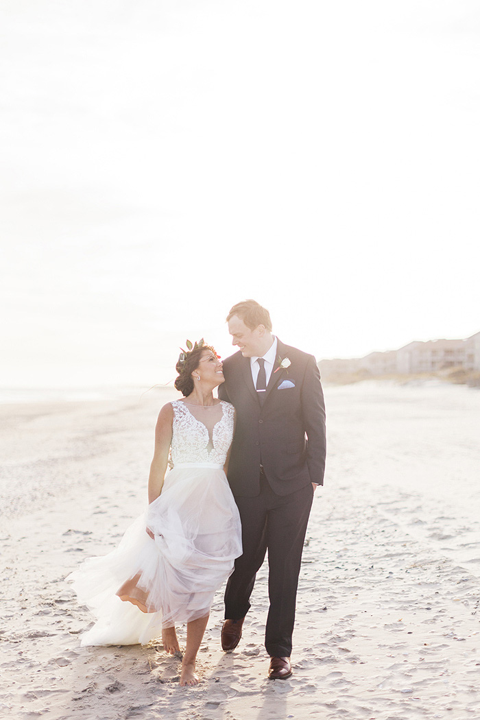 Kimberly And Parkers North Carolina Beach Wedding