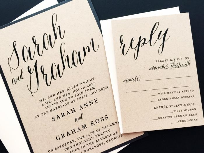 Modern Wedding Invite
