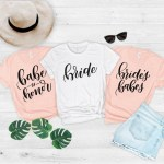 bridesmaid bridal party shirts etsy