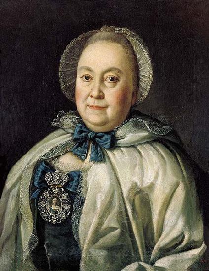 Aleksey Antropov Portrait of Maria Andreyevna Rumyantseva