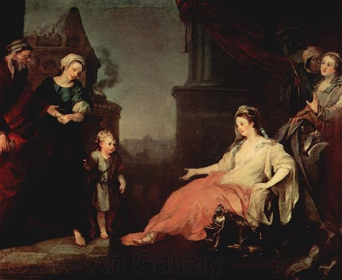 William Hogarth Moses vor der Tochter des Pharao s