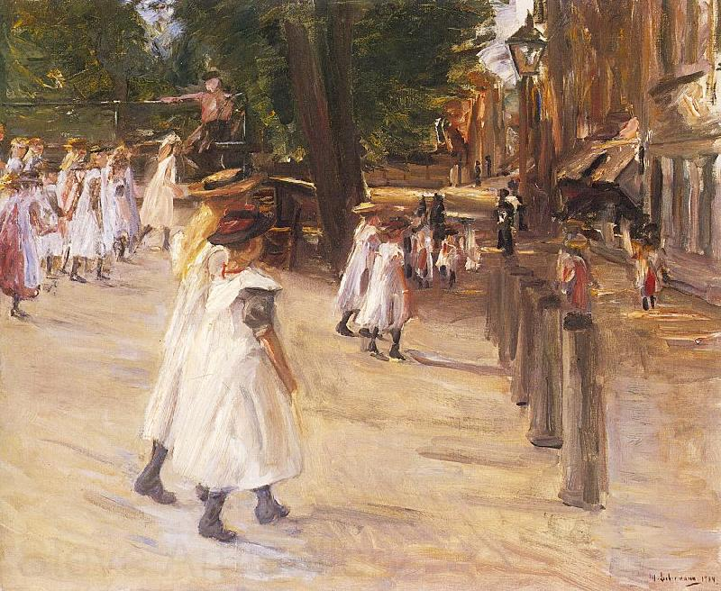 Max Liebermann On the Way to School in Edam