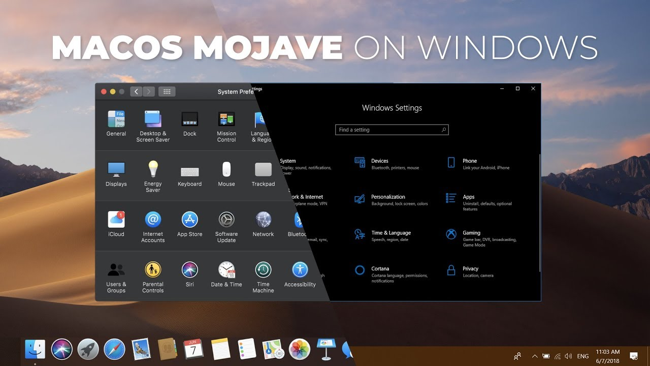 How to Get macOS Mojave Features on Windows 10 For Free?