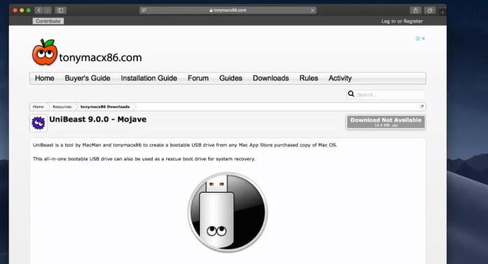 How to Create Bootable USB for macOS Mojave on Windows Using Unibeast
