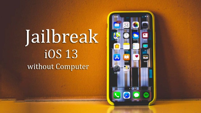JailBreak iOS 13 without a computer