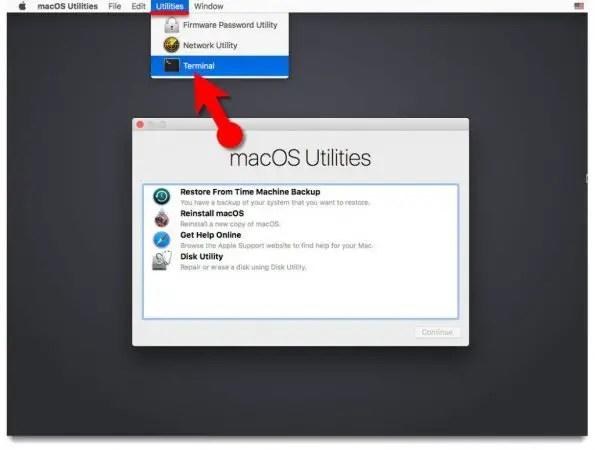 Reset macOS Catalina Forgotten Password