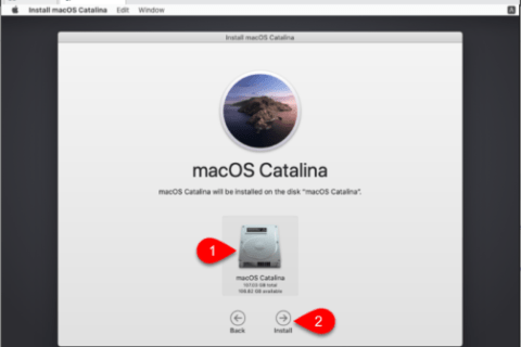 Choose Hard Disk to Install macOS