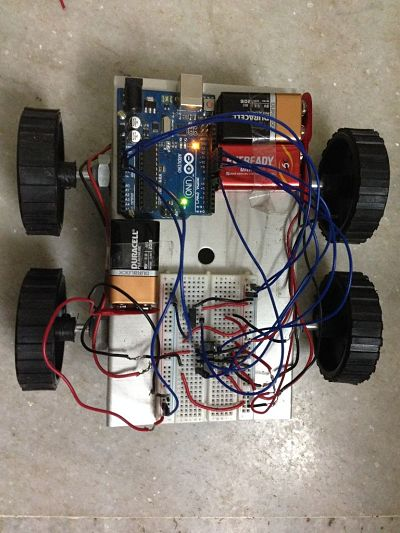Remote controlled car using Arduino and T.V. remote