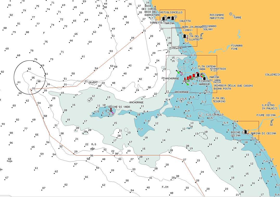 "carta nautica testa ""Sperone"" - nautical chart promontory reef ""Sperone"" - intotheblue.it"