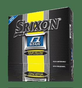 Srixon Q-Star Tour Yellow Golf Ball