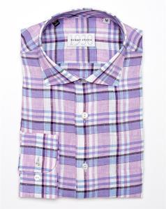 Bobby Jones Linen Plaid Woven Shirt