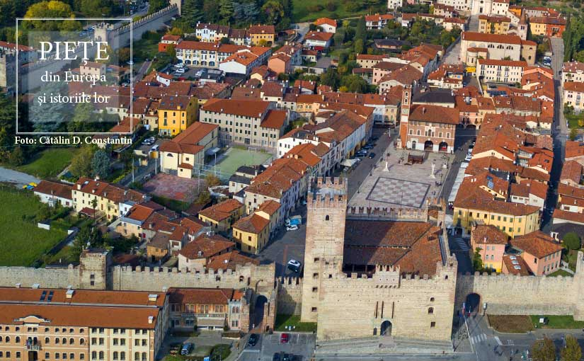 Piazza Castello from Marostica (Italy)