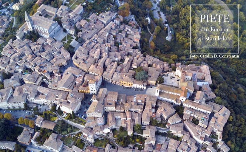 Piazza del Popolo & Piazza Garibaldi from Todi, Italy