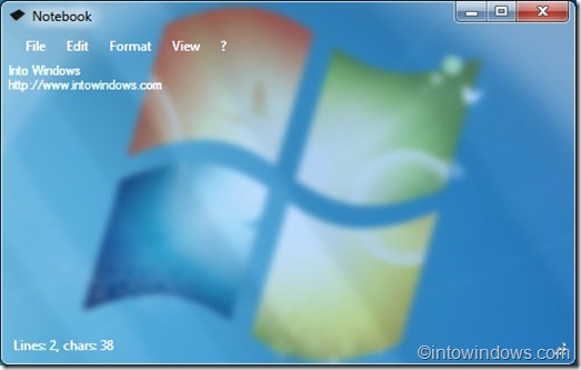 Notebook notepad for windows 7