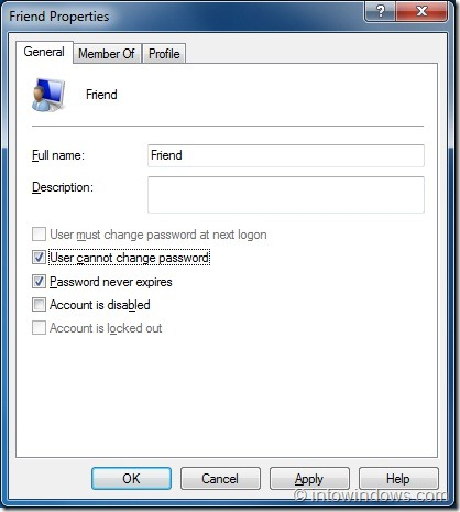 Prevent Users From Changing Password In Windows 7 step4
