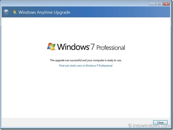 Upgrade Windows 7 Home Premium To Professional Edition step9