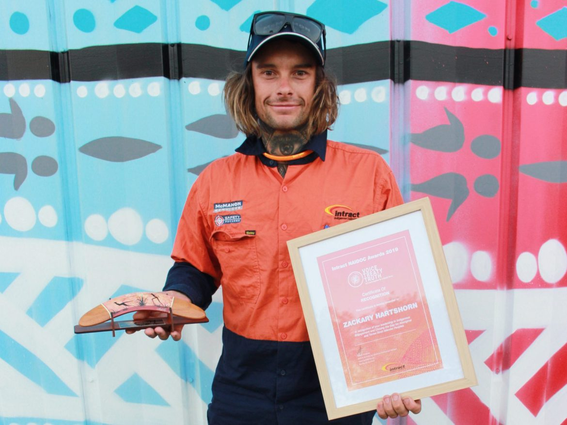 Winner Zackary Hartshorn at Intract North's Inaugural NAIDOC Event