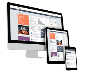The responsive design of Iris Intranet