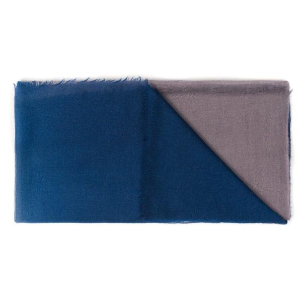 Intreccio Blue BIcolor Scarf