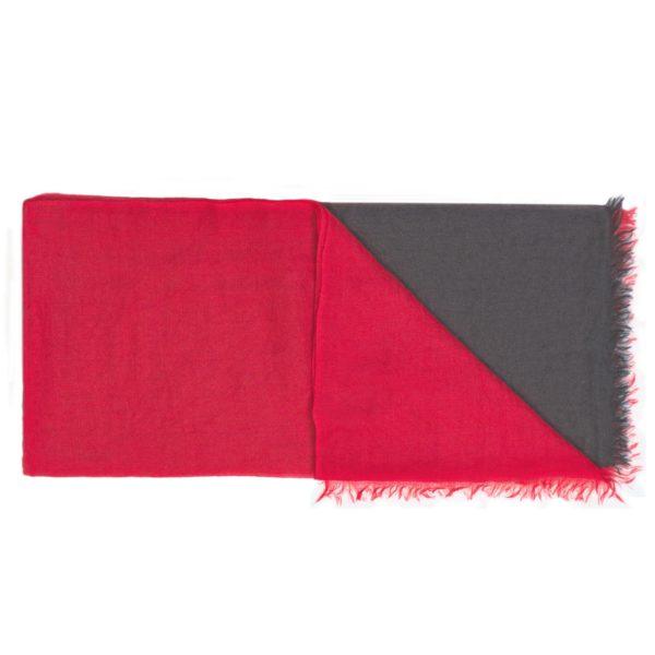 C10757 Scarf Intreccio BIcolor Rosso e Nero