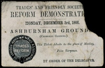 Second Reform Act 1867 fight for democratic rights TUC