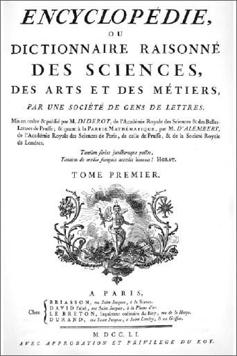 Enlightenment encyclopedie