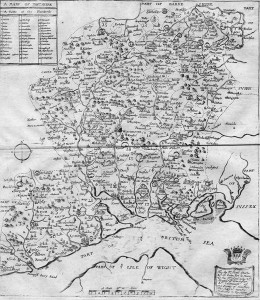 Map Hampshire 1673