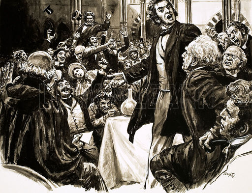 Thomas Huxley defends Darwin against Wilberforce Oxford University 1860