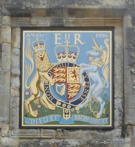 Royal Arms displayed Priory Gate Winchester