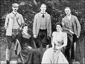 Chamberlain family group Joseph Austen and Neville