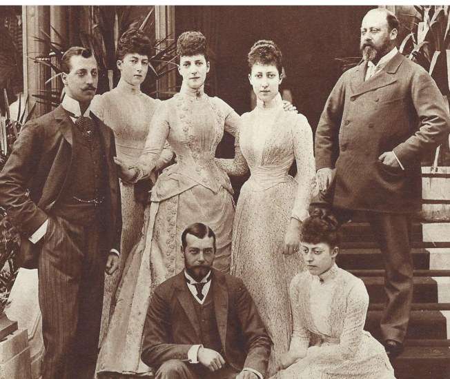 King Edward VII the Duke of York and Clarence, Queen Alexandria and the King's daughters