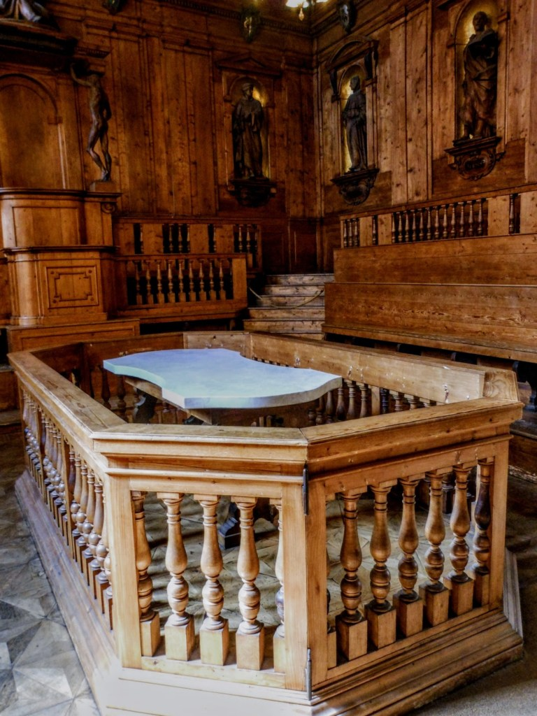 Anatomical Theatre of the Archiginnasio dissecting table