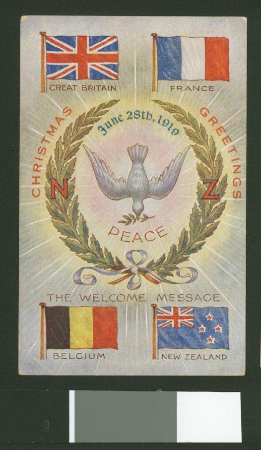 WW1 Australian Christmas Postcard Celebrating end of world war 1 jpeg
