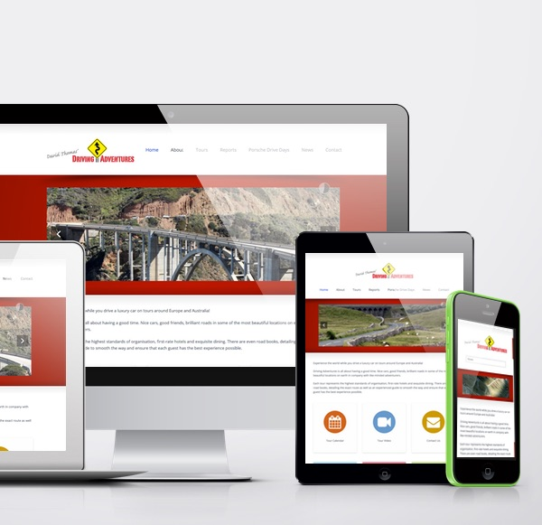 Drive Adventures is a responsive website