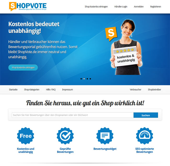 Layout-Relaunch von ShopVote.de