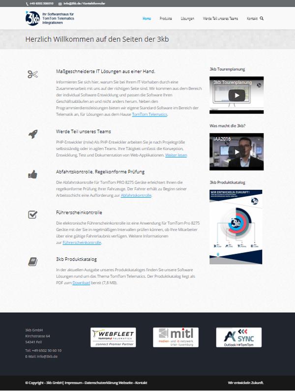 Screenshot der Website 3kb.de