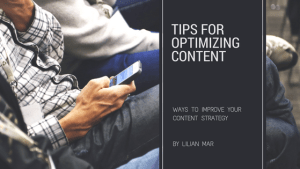 Tips for Optimizing Content