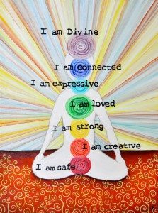 """I AM"" Chakra painting"