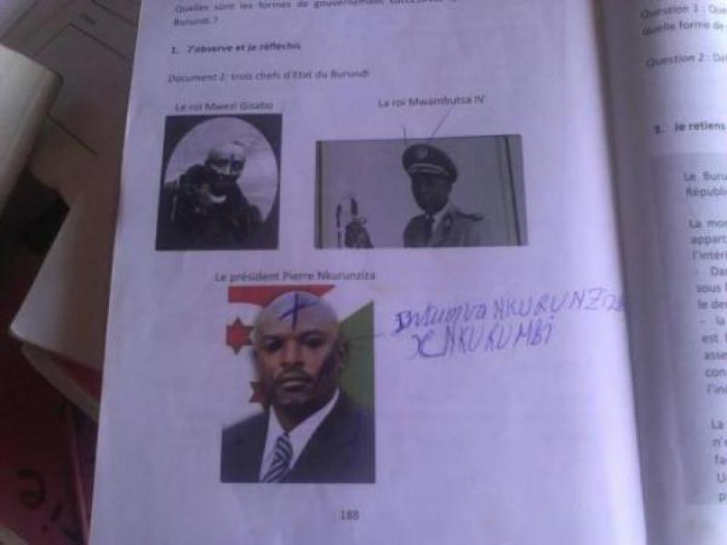 Kwerekana urwango banga Perezida Petero Nkurunziza basiribanga ahari ifoto ye nibyo byabakozeho.
