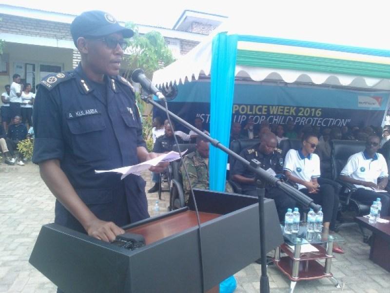 ACP Anthony Kulamba atanga ubutumwa bwa Polisi y'Igihugu.