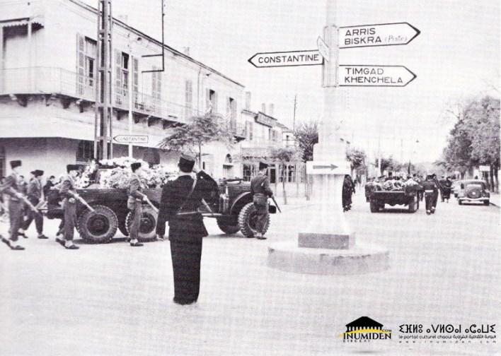 02 نوفمبر 1954 - مراسم دفن أول قتلى ثورة نوفمبر من الجنود الفرنسيين في هباثنت،